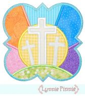 Easter Crosses Frame Applique 4x4 5x7 6x10 7x11