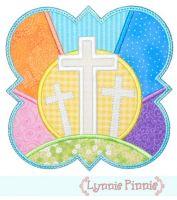 Easter Crosses Frame Applique 4x4 5x7 6x10 7x11