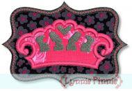 Crown with Frame Zig Zag & Satin 4x4 5x7