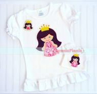 Princess with Crown Applique & Felt Clippie 4x4 5x7 6x10 7x11 SVG