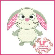 Cute Bunny Applique 4x4 5x7 6x10 7x11 SVG
