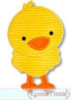Cute Chick Applique 4x4 5x7 6x10