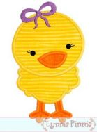 Girly Cute Chick Applique 4x4 5x7 6x10