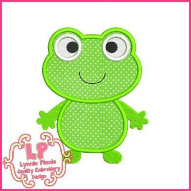 Cute Froggy Applique 4x4 5x7 6x10 SVG