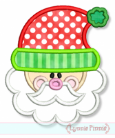 Cute Santa Applique 4x4 5x7 6x10 7x11