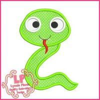 Cute Snake Applique 4x4 5x7 6x10 SVG