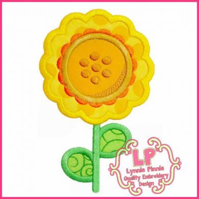 Cute Sunflower Applique 4x4 5x7 6x10 SVG