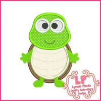 Cute Turtle Applique 4x4 5x7 6x10 SVG