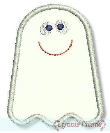 Cute Little Ghost Applique 4x4 5x7 6x10