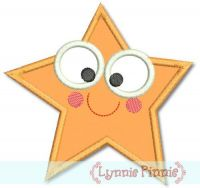 Cutie Starfish Applique 4x4 5x7