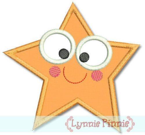 Cutie Starfish Applique 4x4 5x7
