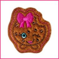 Cutie Kawaii Chocolate Chip Cookie Felt Clippie