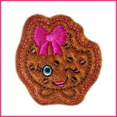 Cutie Kawaii Chocolate Chip Cookie Felt Clippie