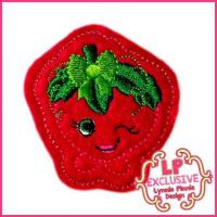 Cutie Kawaii Strawberry Felt Clippie