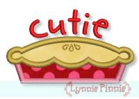 Cutie Pie Applique 4x4 5x7