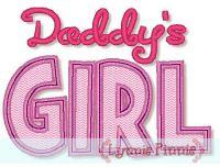 Daddy's Girl Applique 4x4 5x7