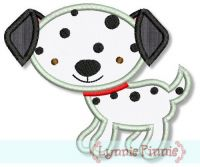 Dalmatian Applique 4x4 5x7