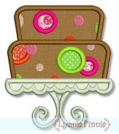 Tiered Dot Cake Applique 4x4 5x7 6x10