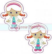 Cutie Doctor Girl Felt Clippies 4x4
