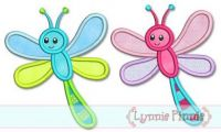 Dragonfly Applique 4x4 5x7 6x10 7x11 SVG