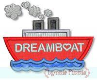 Dreamboat Applique 4x4 5x7 6x10