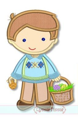 Easter Boy Cutie Applique 4x4 5x7 6x10 SVG
