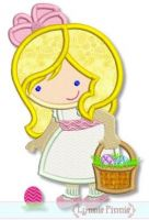 Easter Girl Cutie Applique 4x4 5x7 6x10 SVG