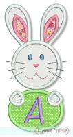 Easter Bunny Applique Alphabet - 5x7