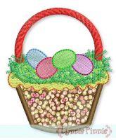 Easter Basket Cupcake Applique 4x4 5x7