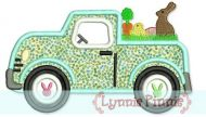 Easter Truck Applique 4x4 5x7 6x10