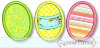 Easter Egg Trio Applique 4x4 5x7 6x10