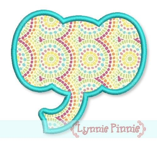 Simple elephant head applique welcome to