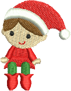 Mini Christmas Elf 4x4