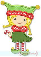 Girl Elf Applique 4x4 5x7 6x10