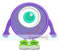 Eyeball Monster Applique 4x4 5x7 6x10 7x11 SVG