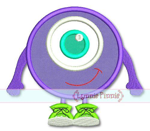 Eyeball Monster Applique 4x4 5x7 6x10 7x11 SVG