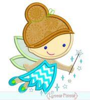 Cutie Princess Fairy Applique 4x4 5x7 6x10