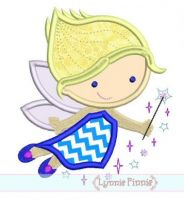 Cutie Princess Fairy Applique 2 4x4 5x7 6x10 SVG
