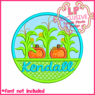 Fall Circle Applique 4x4 5x7 6x10 7x11 SVG