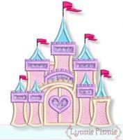Fancy Castle Applique 4x4 5x7 6x10 7x11