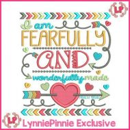 Fearfully and Wonderfully Made PSALM 139:14 Tribal Arrows Word Art Applique 4x4 5x7 6x10 7x11
