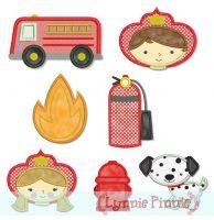 Little Firefighters Set 4x4 5x7