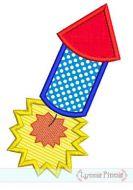 Firecracker Applique 2 4x4 5x7 6x10