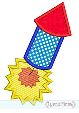 Firecracker Applique 2 4x4 5x7 6x10