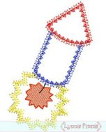 Firecracker Applique Deco 4x4 5x7 6x10