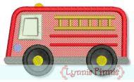 Fire Engine Applique 4x4 5x7