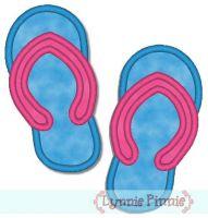 Applique Flip Flop Single Left and Right 4x4 & 5x7