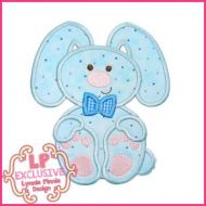 Floppy Bunny Boy Applique 4x4 5x7 6x10 7x11