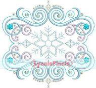 Flourish Frame 4 Embroidery Design 4x4 5x7 6x10