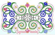 Flourish Frame 5 Embroidery Design 4x4 5x7 6x10